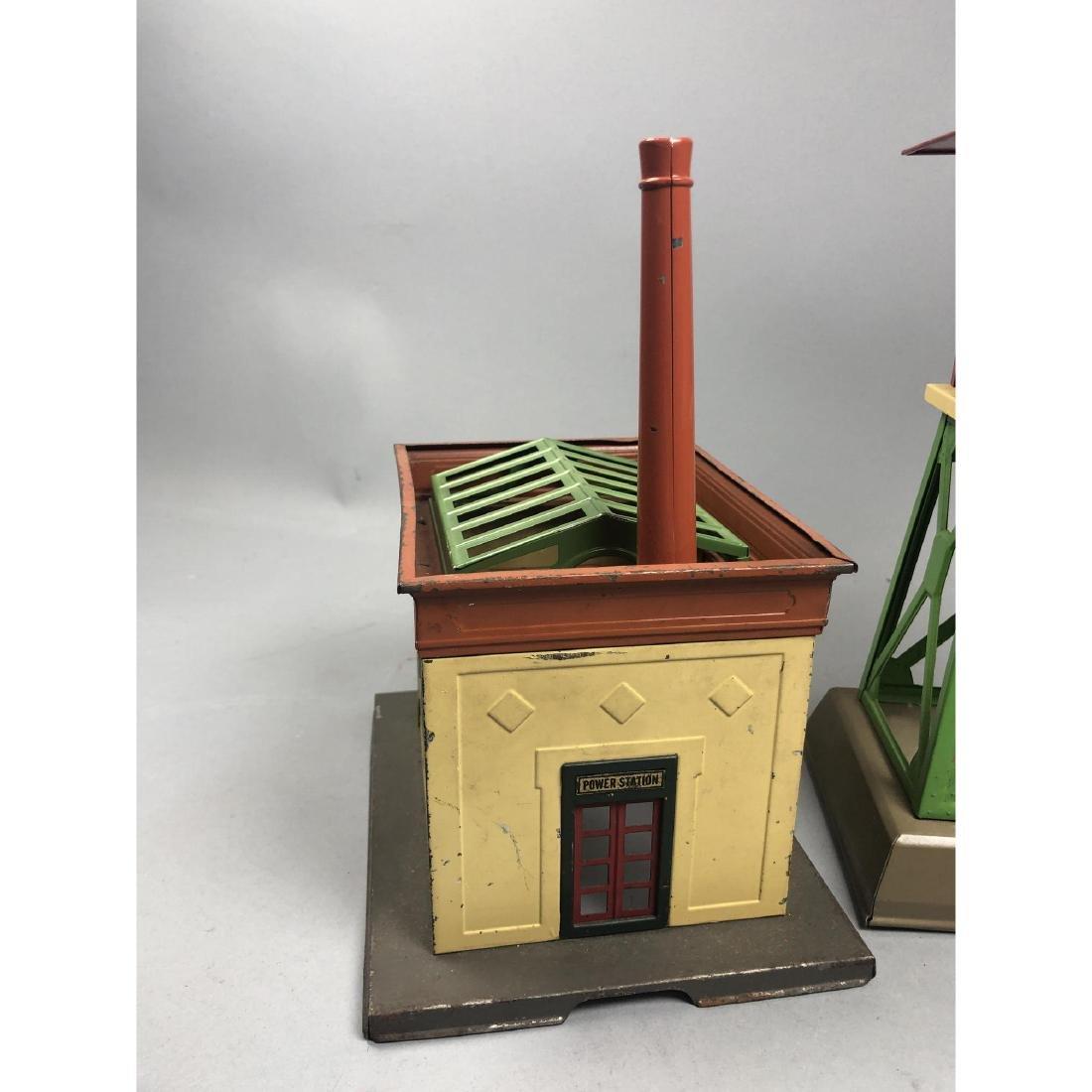 3pc LIONEL Model Train Buildings. 1 power station - 2