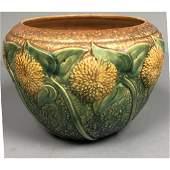 "8"" ROSEVILLE ""Sunflower"" Art Pottery Jardiniere."