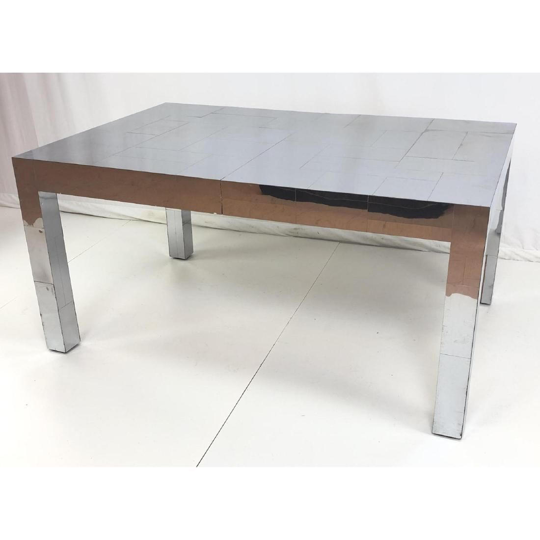PAUL EVANS Stainless Cityscape Dining Table. Thic