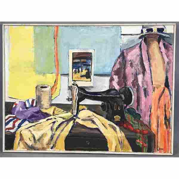 JEFFREY BOYS Still Life Oil Painting. Modernist p