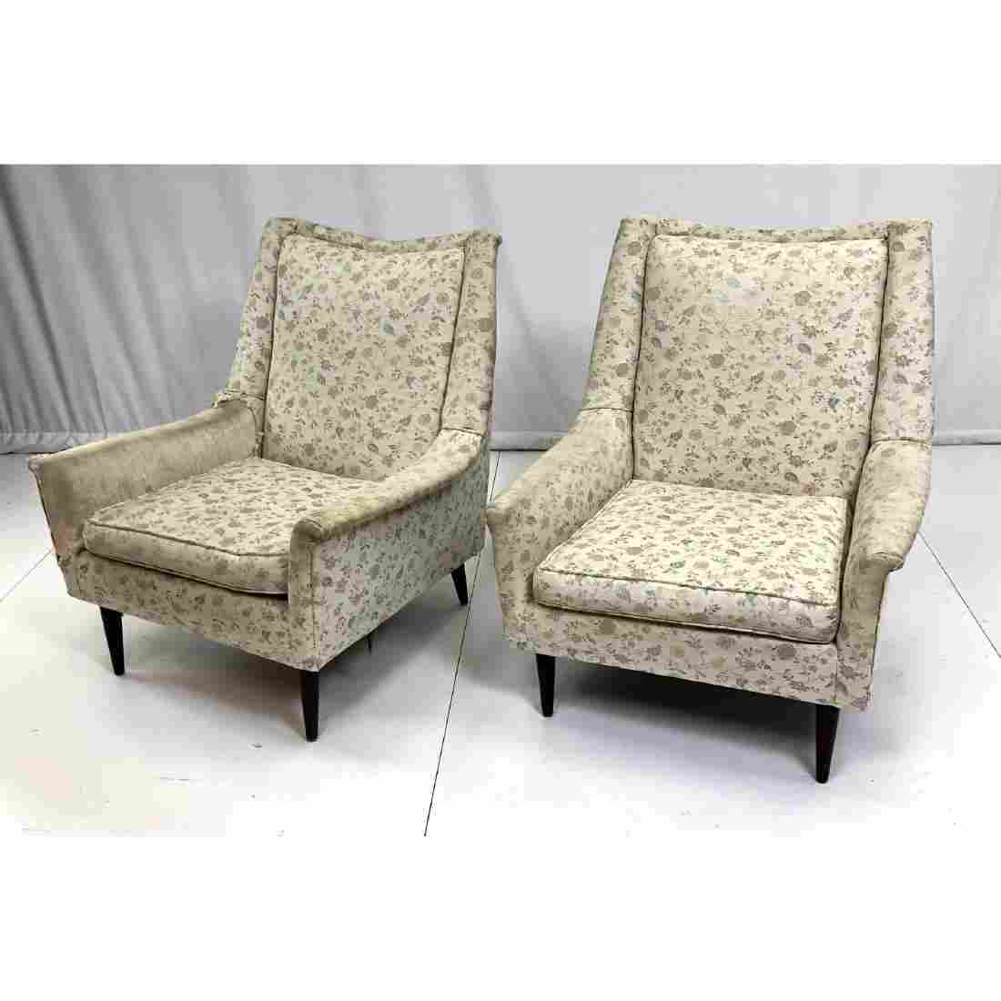 Pr Paul McCobb Style Tall Modernist Lounge Chairs