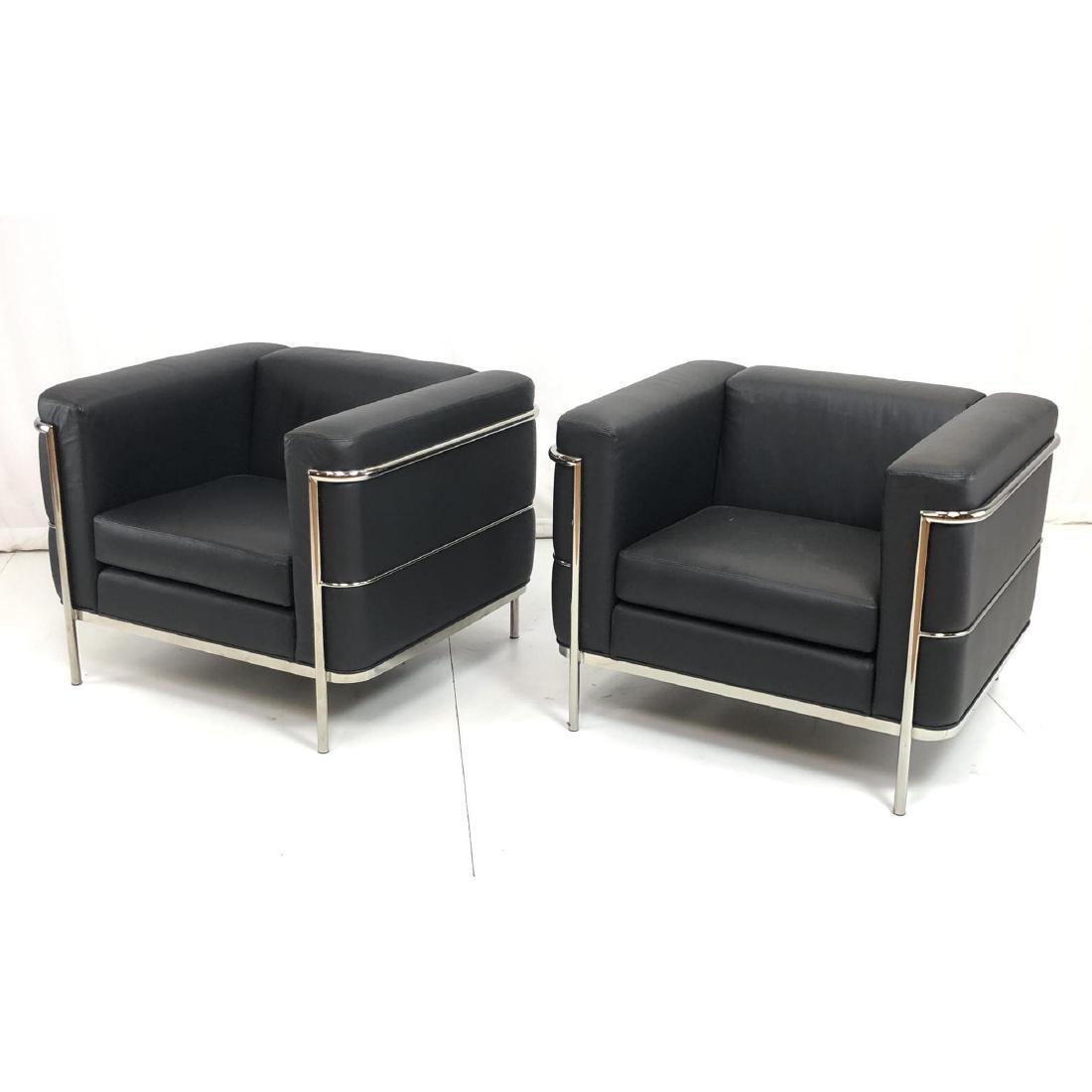 ... Pr Jack Cartwright Black U0026 Leather Chrome Lounge
