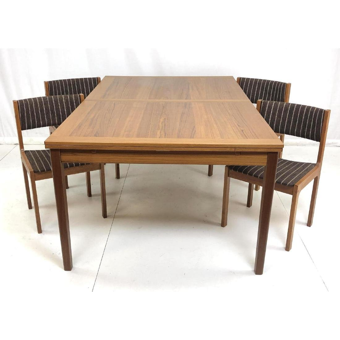 5pc Danish Modern Teak Refractory Dining Set. Tab
