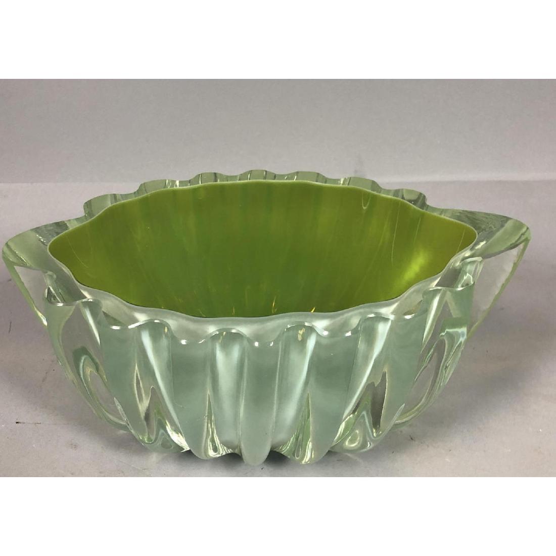 Barovier Toso style Heavy Murano Art Glass Bowl.