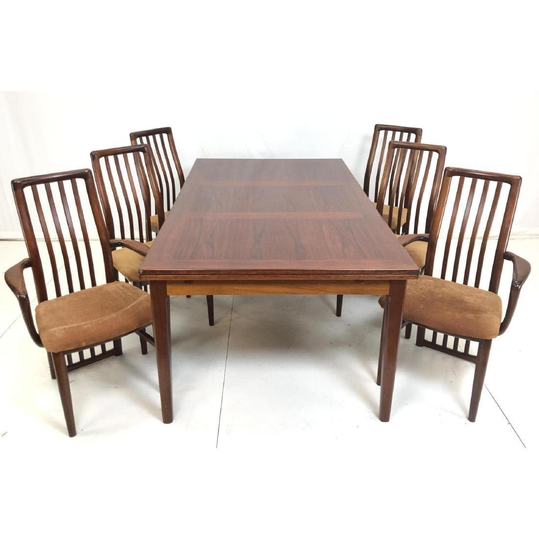 7pc Danish Modern Rosewood Dining Set. SCHOU ANDE