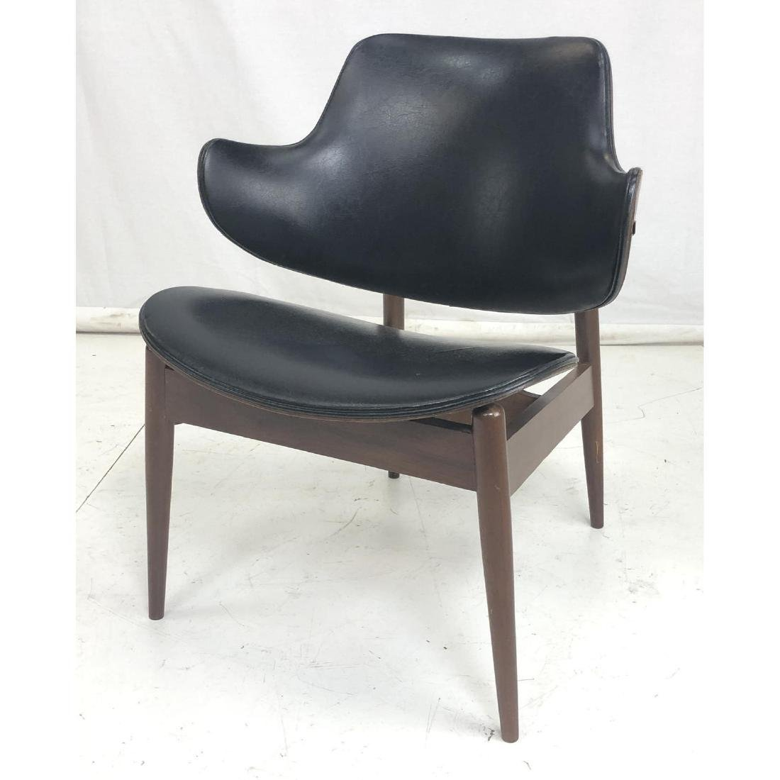 KOFOD LARSEN Modernist Lounge Chair. Teak Molded