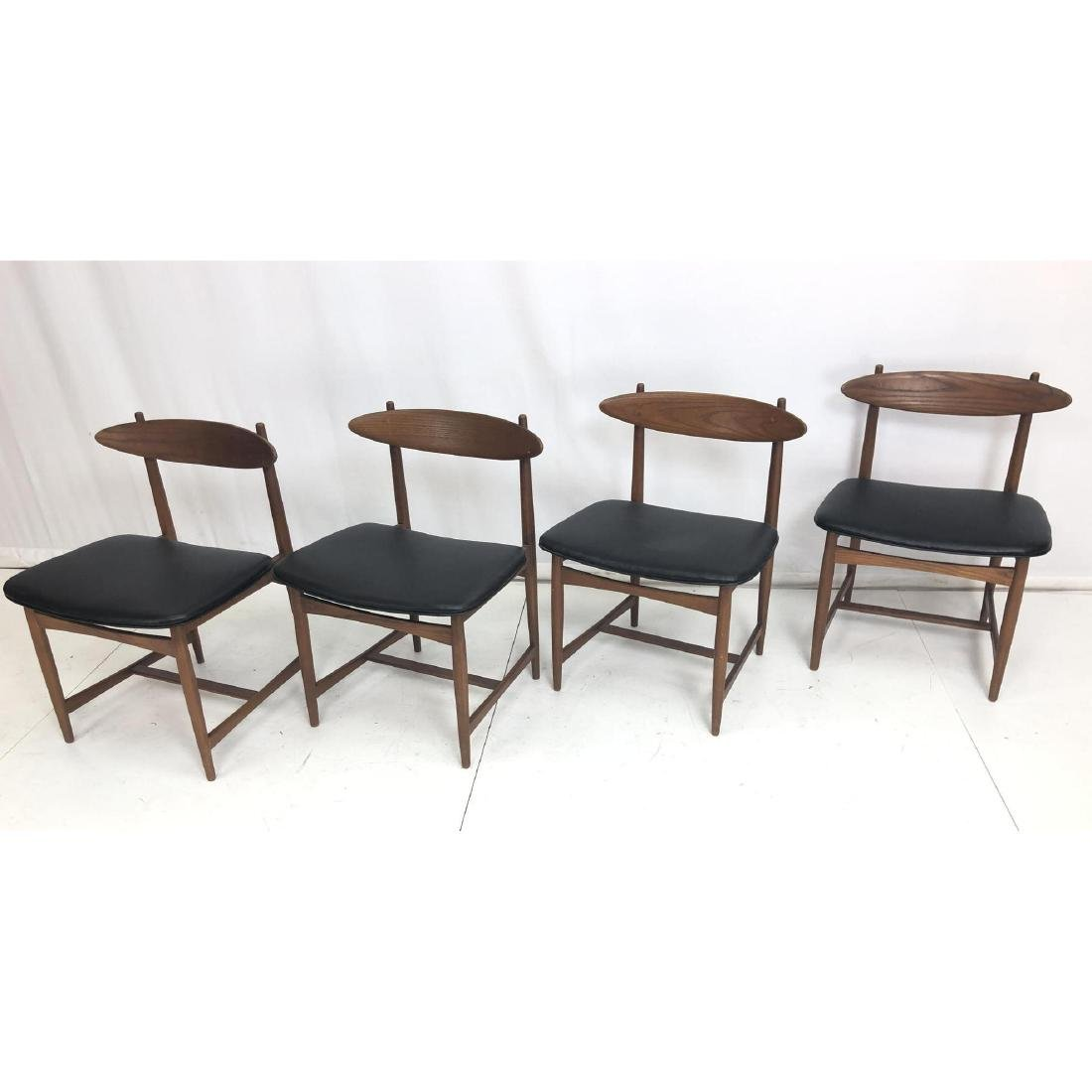 Set 4 Danish Teak Modern Dining Side Chairs. Floa