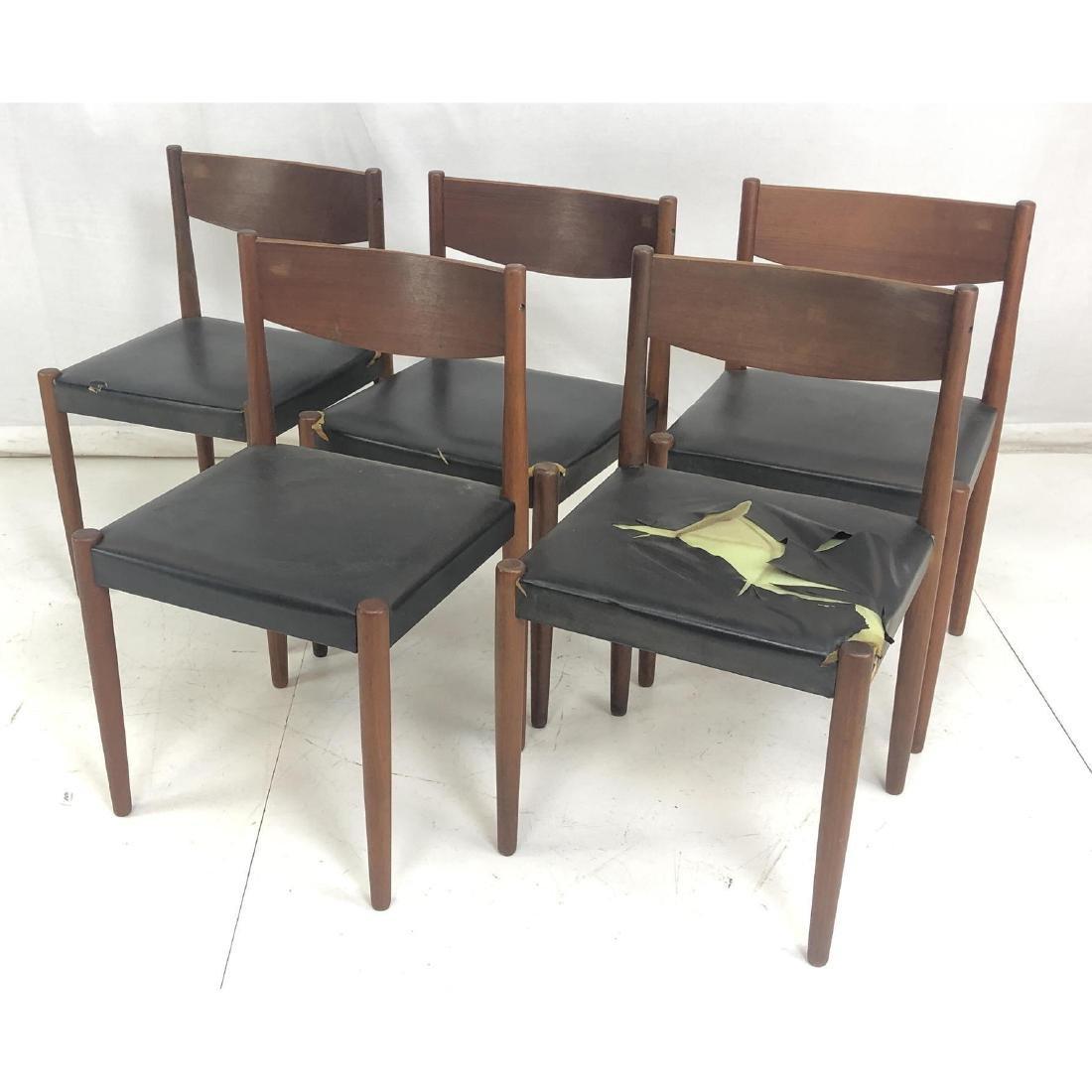 Set 5 Modernist Teak FREM ROJLE Dining Chairs. Da