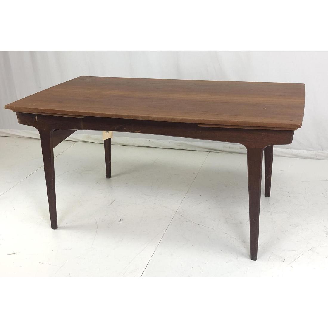 Danish Modern Teak Refractory Dining Table. Shape