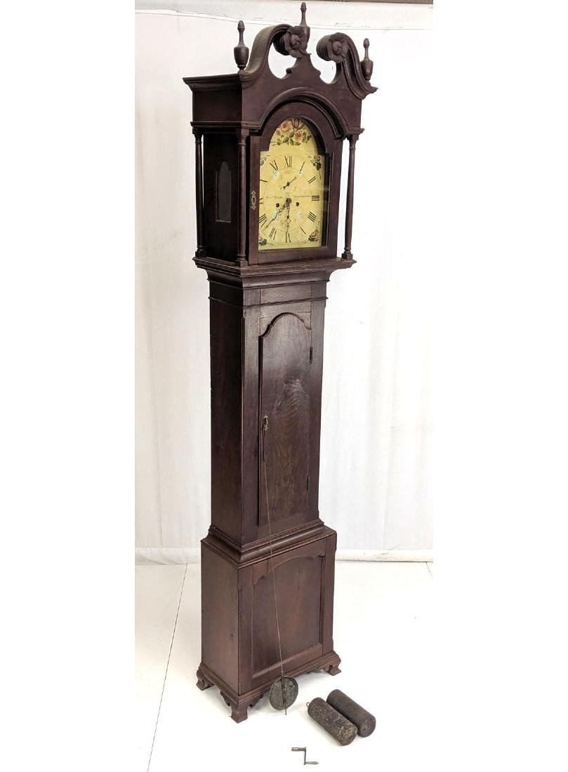 THOMAS STOBO Strathaven Antique Tall Case Clock.