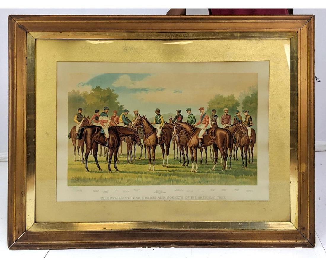 Celebrated Winning Horses & Jockeys of the Americ