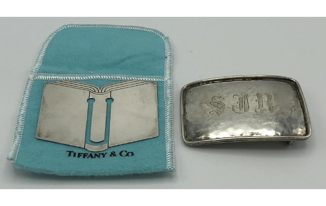 2pc CARTIER, TIFFANY & CO Sterling Silver. Tiffan