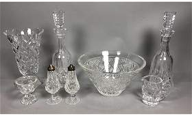 9pc WATERFORD Irish Crystal Table Ware. Pr stoppe