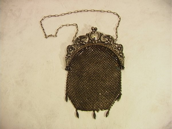 18: Sterling Top Chain Link Mesh Purse Handbag Sterling