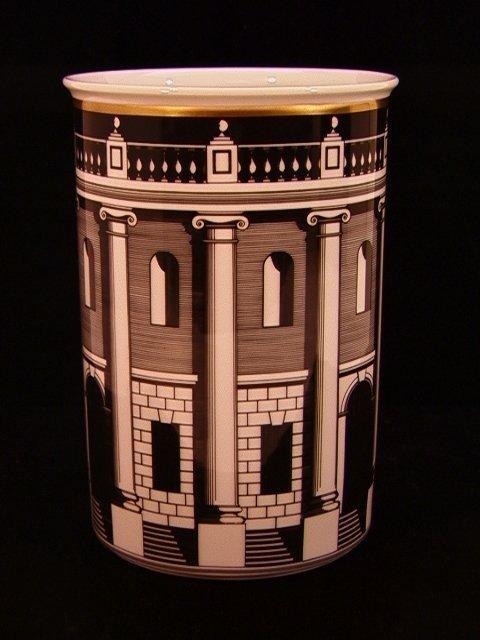 303: Piero Fornasetti Rosenthal Palladiana Vase.  Cylin
