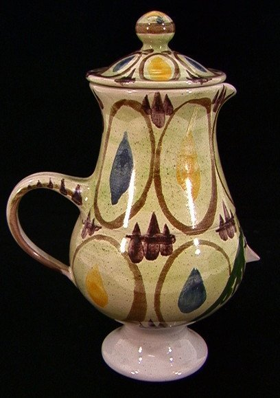304: Bjorn Wiinblad Danmark Figural Vase Pitcher with L