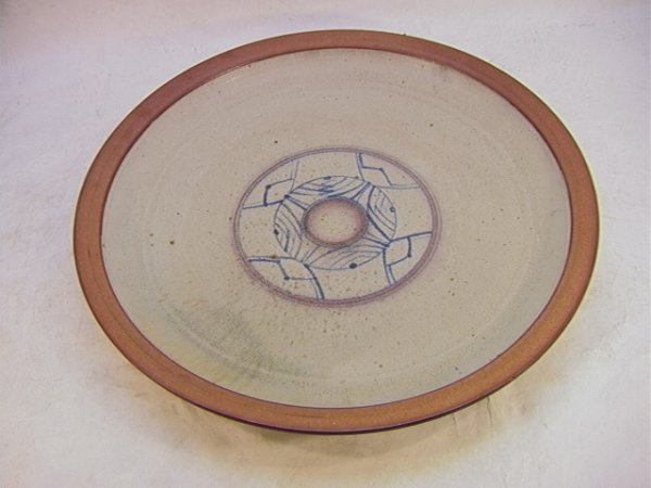 321: BILL KNOBLE Large Modernist Pottery Charger RWCW