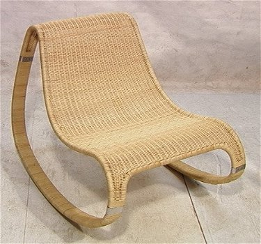 Superb 452 Woven Rattan Eero Aarnio Rocker Rocking Chair Tub Evergreenethics Interior Chair Design Evergreenethicsorg
