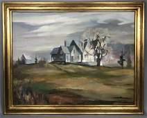 WILLIAM SANDERSON modernist landscape oil paintin