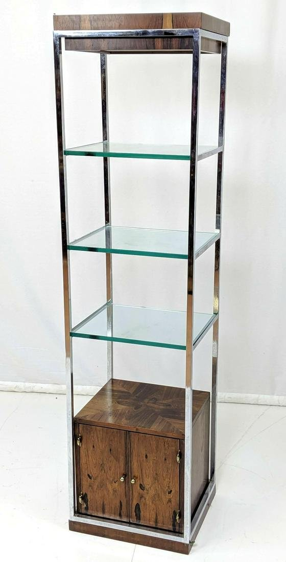 Modernist Rosewood Chrome Small Display Shelf Eta