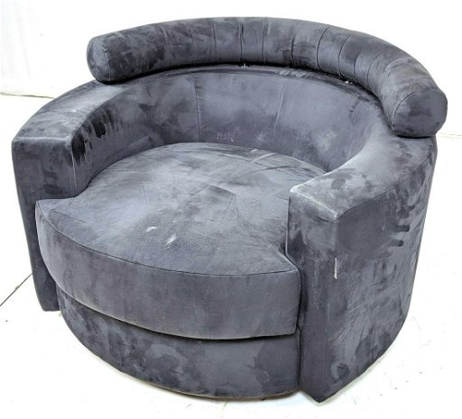 Miraculous Roche Bobois Swivel Black Ultra Suede Lounge Chai Cjindustries Chair Design For Home Cjindustriesco