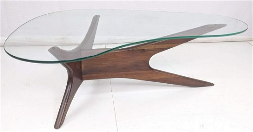 Awe Inspiring Adrian Pearsall Glass Top Coffee Table Boomerang Evergreenethics Interior Chair Design Evergreenethicsorg