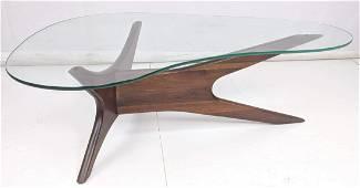 ADRIAN PEARSALL Glass Top Coffee Table. Boomerang