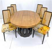 7pc HARVEY PROBBER Dining Set. Oval table wit