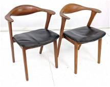 Pr Erik Kirkegaard Dining Side Chairs.