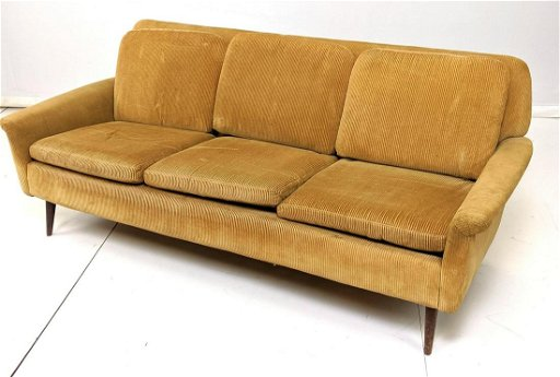 Admirable Dux Modernist Sofa Couch Light Brown Corduroy Fa Creativecarmelina Interior Chair Design Creativecarmelinacom