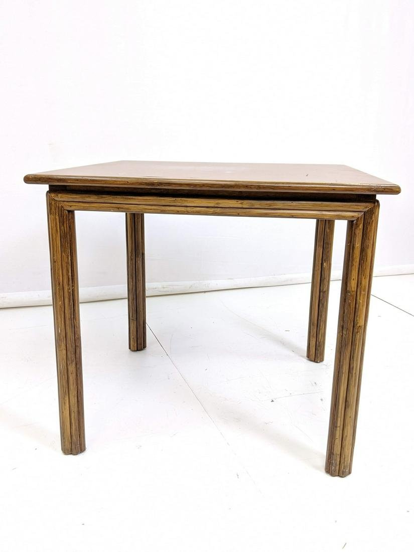 MCGUIRE Rattan Leg Formica Top Kitchen Game Table