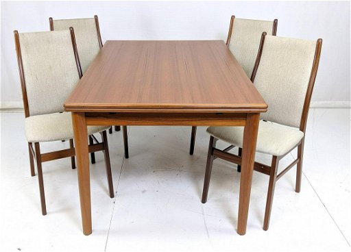 5 Pc Danish Modern Teak Dining Table Set Refract Aug 06 2019 Uniques Antiques Inc In Pa