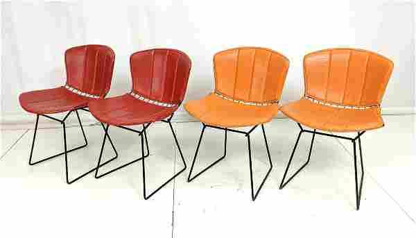 Set 4 KNOLL by HARRY BERTOIA Side Chairs. Black m