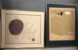 2 pc JAMES NORMAN Signed Prints. 1) Abstract land