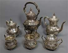 6 Pc OLD ENGLISH by POOLE Sterling Silver Coffee