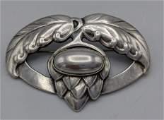 GEORG JENSEN Sterling Silver Modernist Pin Brooch