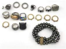 18 Pc Sterling Silver Assorted Ladies Jewelry In