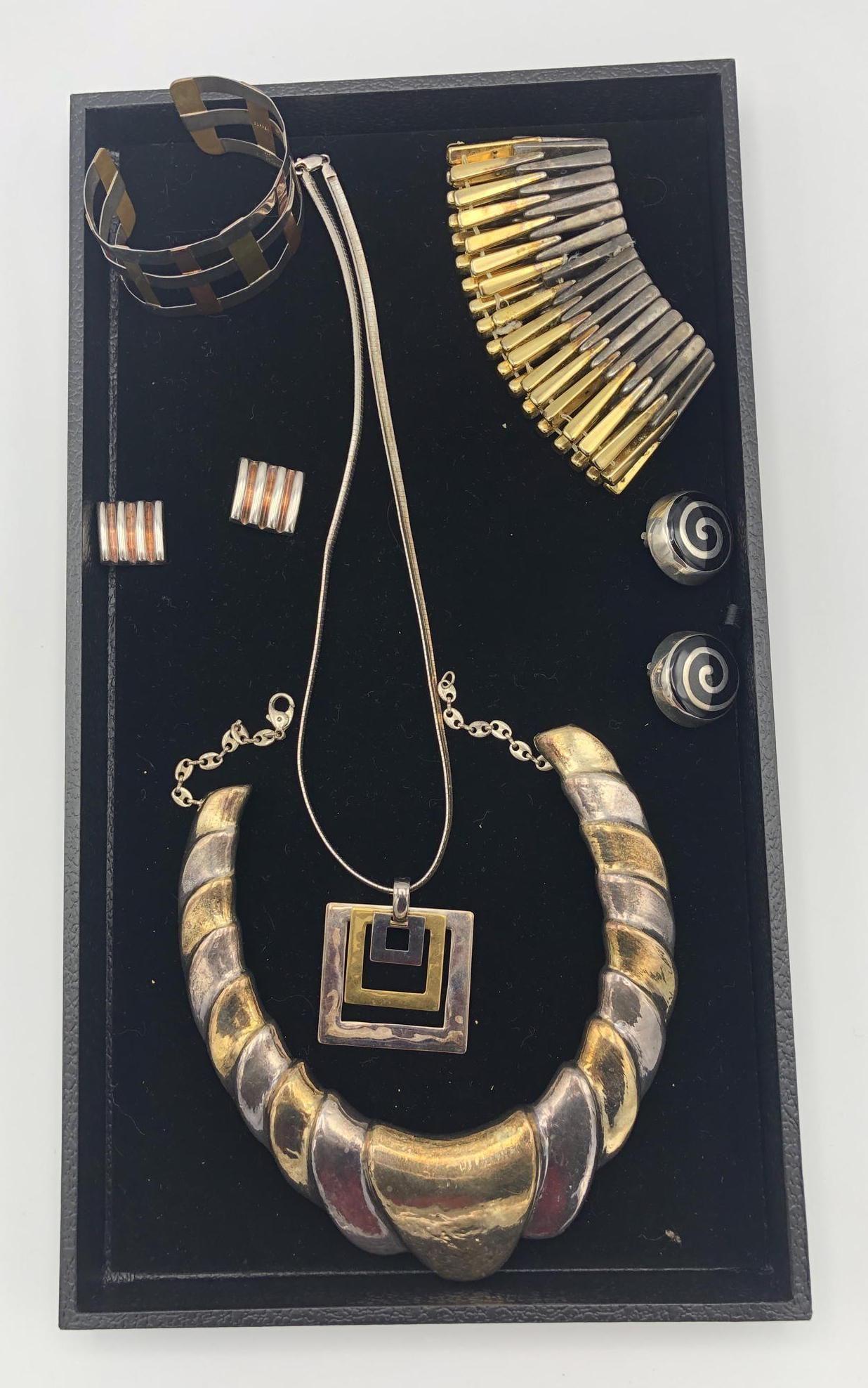 Designer Sterling Silver Modernist Jewelry. RLM M