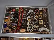 Case Lot A. Large costume jewelry lot. Bracelets,