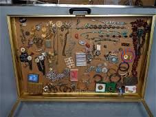 Case Lot B. Large costume jewelry lot. Bracelets,