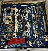 Case Lot J. Large costume jewelry lot. Nice, styl