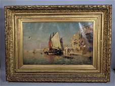 CHARLES GIFFORD DYER Venice 1878 Oil Painting on