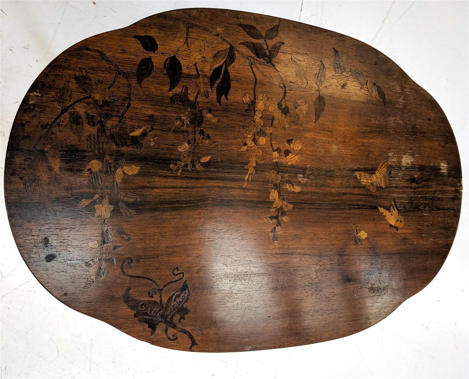 GALLE NANCY Inlaid Art Nouveau Table. Table Inlai