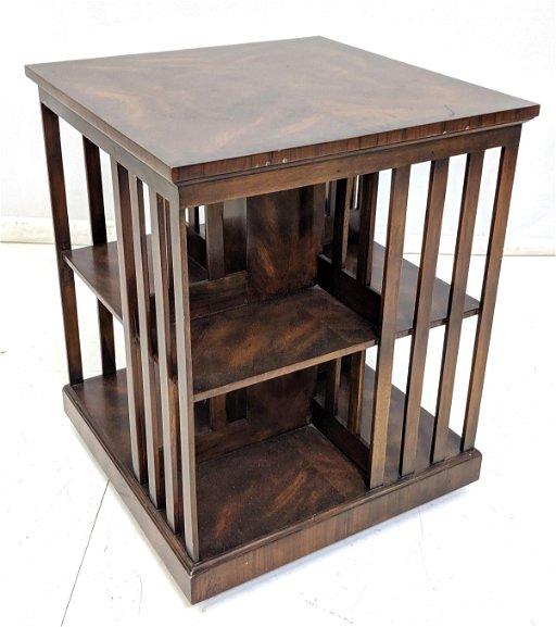 new style 0d176 8d676 Vintage Mahogany Rotating Bookshelf Table. Wood s