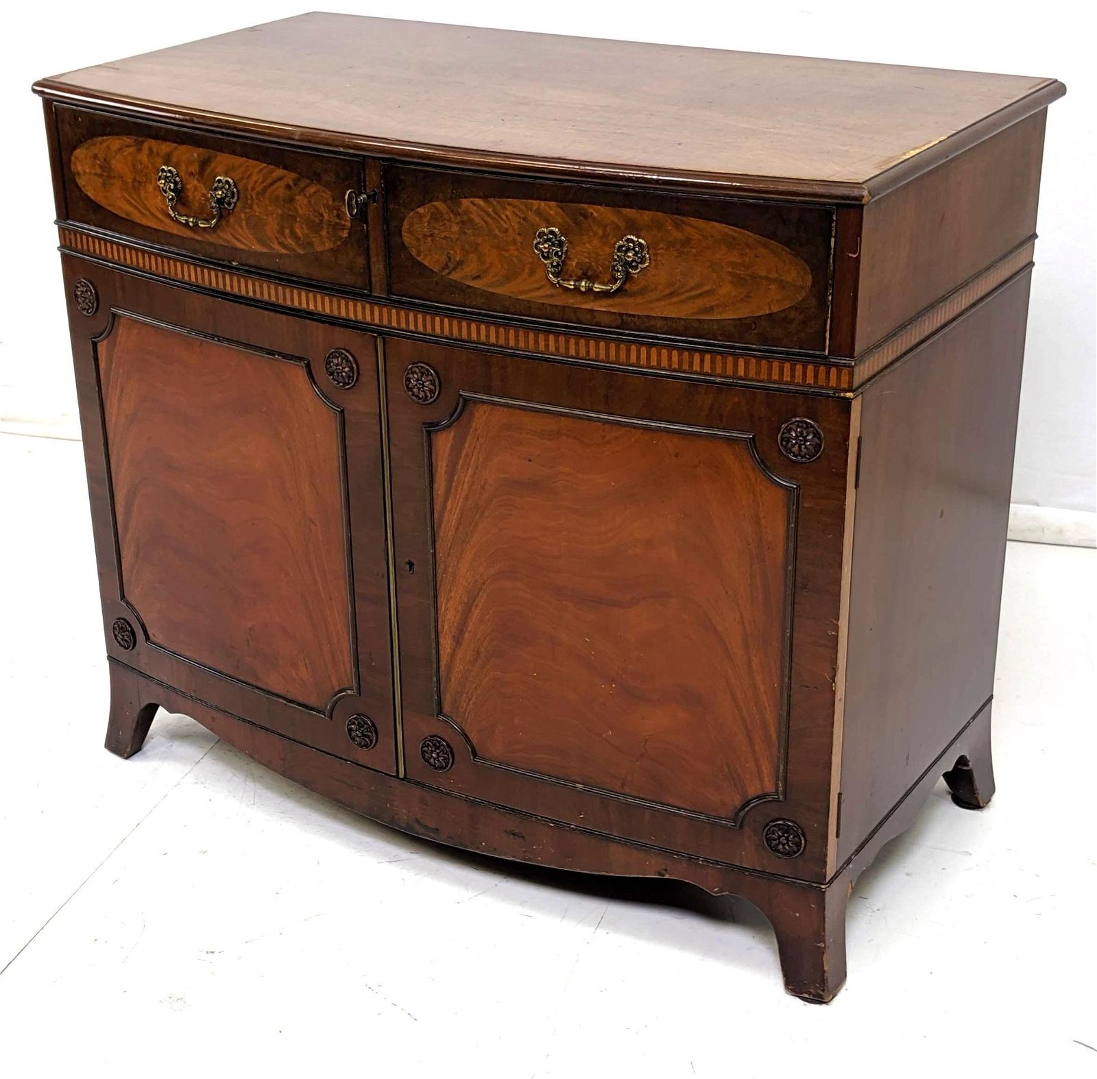 Antique Small Server One Drawer Cabinet.