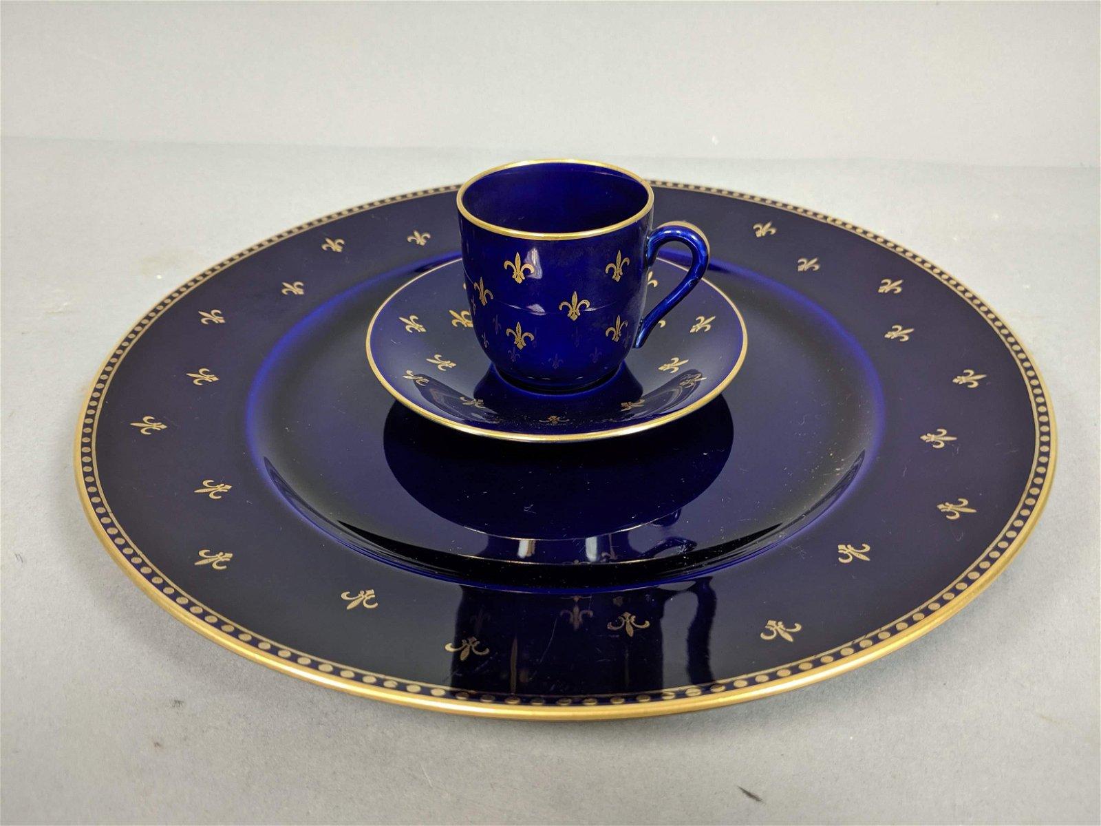 RORSTRAND Sweden Set of Porcelain China. Cobalt,