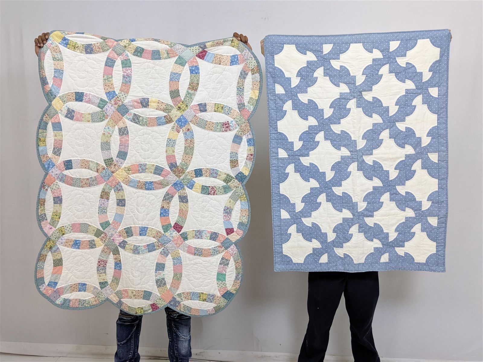 2 Vintage Baby Crib Quilts.