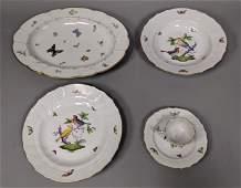 50pc HEREND Hungary China Dinnerware Rothschild