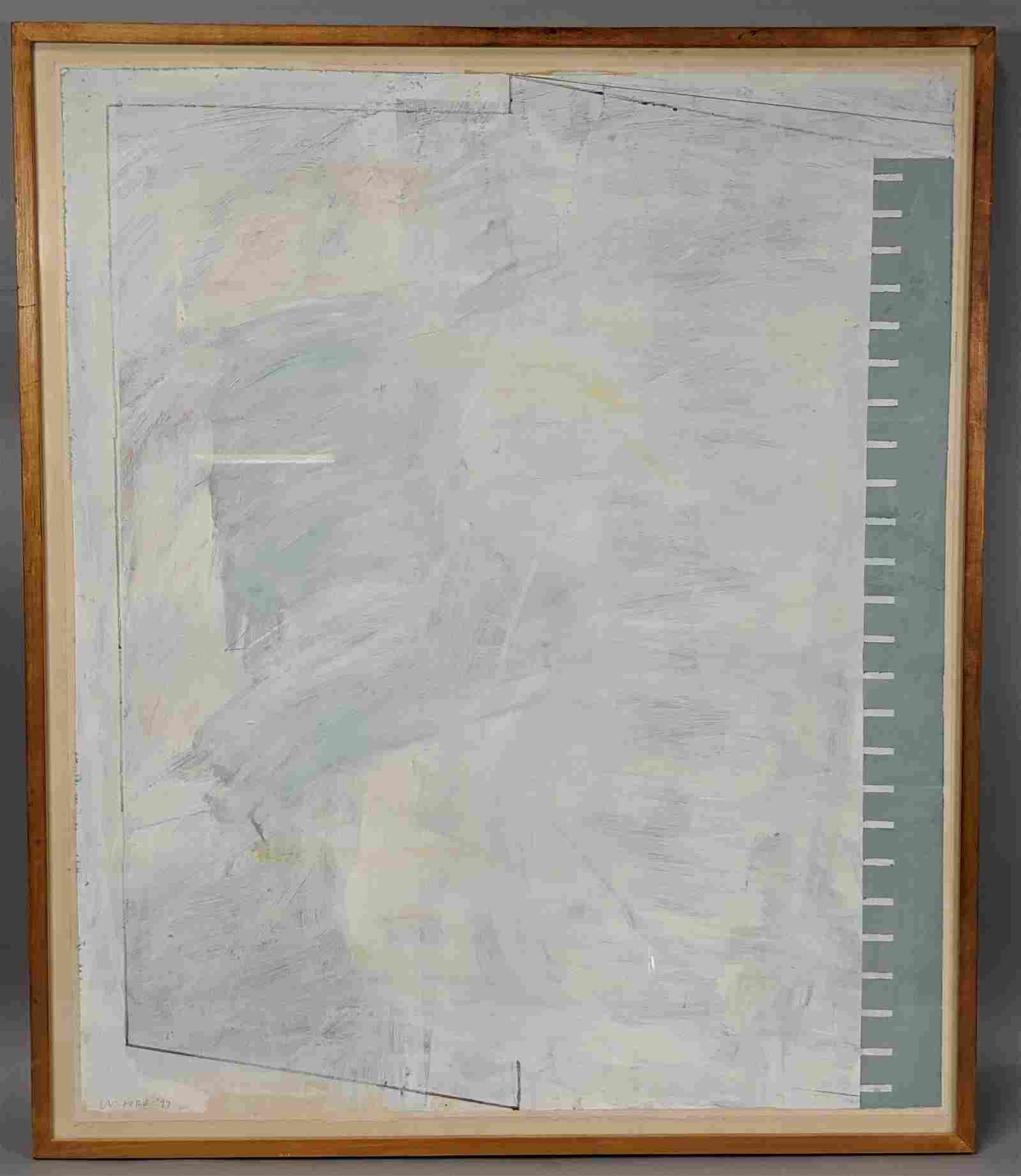 GORDON MOORE Modernist Acrylic Painting on Paper