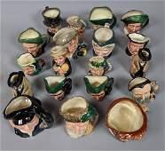 19 ROYAL DOULTON Mini Toby Character Mugs Jugs. L